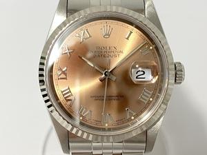 【新品仕上げ済】 【極美品】 ROLEX ロレックス デイトジャスト ローマン 16234 W番 メンズ 自動巻き 腕時計 冊子付き 動作品