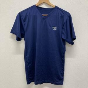 美品 アンブロ UMBRO Tシャツ インナー アンダーシャツ Vネック 半袖 メンズ Lサイズ ネイビー サッカー フットサル