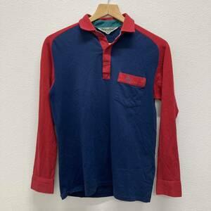 美品 Munsingwear マンシングウエア グランドスラム ポロシャツ 長袖 シャツ ゴルフウエア メンズ Sサイズ程度 ネイビー