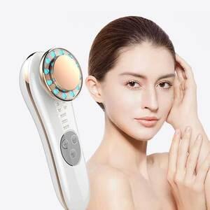 超音波美顔器 イオン導入美顔器 振動 温熱美顔器 イオンエフェクター 温熱ケア フェイスケア クレンジング 美肌 ☆カラー/2色選択/1点
