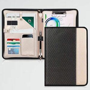 好評 新品 A4 クリップボ-ド D-PQ バインダ- Toplive クリップファイル 書類フォルダ- 高級PUレザ- 収納ポケット搭載