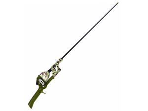 アメリカ直輸入 Lil'Anglersのスピンキャストリール一体式ロッド カモフラージュが3300円即決