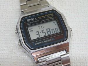 ★CASIO A158W 腕時計 クォーツ デジタル カシオ ベルト調整可能 電池交換済み 46166★!!