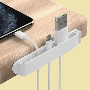 ラスト1点 新品 3個入り PZOZ K-WZ 貼り付けタイプ (ホワイト)ホルダ- PC製クリップ 11穴 充電ケ-ブル 固定 USB コ-ドクリップ