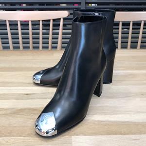 【新品未使用】 ルイヴィトン 現行 ルイーズ ライン アンクル ブーツ #24cm #37.5 1A8NNC ブラック カーフレザー 黒 レディース 06168