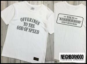 NEIGHBORHOOD ネイバーフッド 17SS OFFERINGS C-TEE SS ロゴ ワッペン 刺繍 プリント 半袖 クルーネック Tシャツ カットソー ホワイト 白 S