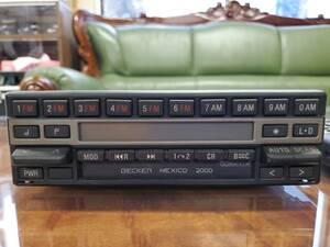 メルセデスベンツW126/W140 カセットデッキ 0028209886 BECKER ベッカー カーオーディオ テープデッキ AM/FM 1000SEL/560SEL/560SEC/500SE