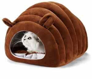 猫ハウス ドーム型 猫ベッド 犬用 ペットベッド 暖かい ふわ休憩所 猫 小型犬