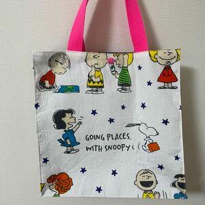 ハンドメイドバッグ ハンドメイド スヌーピー 紙袋型バッグ 紙袋風バッグ
