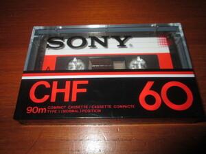 カセットテープ SONY CHF60  1巻◆ノーマルポジション 海外向け製品の可能性あり