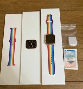 ☆美品☆ Apple Watch Series 6 (GPS) 40mmゴールドアルミニウムケースとプライドエディションスポーツバンド ★保護シート、ケース付き★