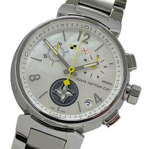 ルイヴィトン LOUIS VUITTON 時計 Q11BA タンブール クロノ ラブリーカップ シェル クオーツ メンズ 磨き済み