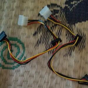 4ピン 電源 変換電源ケーブル SATA30cm 2本