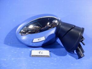 BMW ミニ 右ドアミラー 電格 ヒーター付き 7P メッキミラー 運転席側 サイドミラー H18年 RA16 右ハンドル ミニクーパー