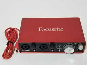 美品 全額返金保証付 Focusrite フォーカスライト オーディオインターフェイス 2イン/2アウト 24bit/192kHz Scarlett 2i2 (2nd Gen)