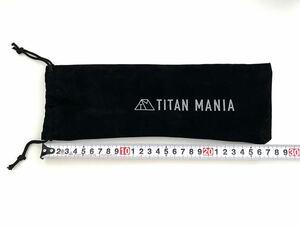 TITAN MANIA チタンマニア ペグ収納袋 チタンペグケース