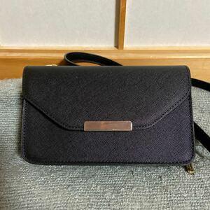お財布ポシェット ショルダーバッグ 斜めがけバッグ ウォレットショルダー 小銭入れ付 小さめ 多機能 3way