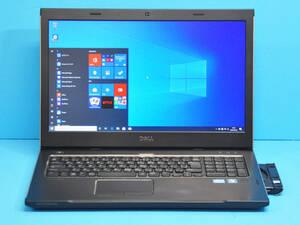 ♪ 良品 上位モデル Vostro 3750 ♪ 大画面17.3 Corei5 2410M / メモリ8GB / 新品SSD:256GB / カメラ / マルチ / Office2019 / Win10