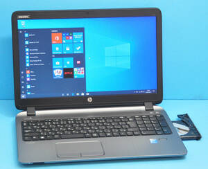 ♪ 良品 上位モデル ProBook 450 G2 ♪ 高速SSD !! 大画面15.6 Corei3 5010U / メモリ8GB / 新品SSD 128GB / カメラ / Office2019 / Win10