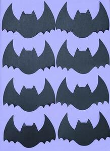 【ハロウィン】コウモリ8枚(ブラック)顔なし無地 壁面飾り 壁面装飾 幼稚園 保育園 ハンドメイド 手作り