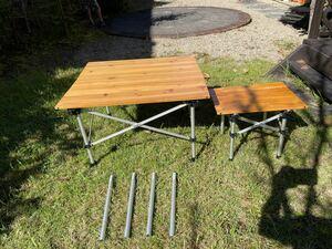 セット!ナチュラルウッドロールテーブル 65 とナチャラルウッドミニテーブル