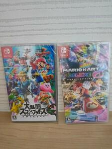 【新品未開封】 大乱闘スマッシュブラザーズ SPECIAL マリオカート8デラックス Nintendo Switch