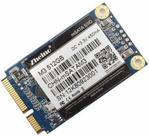 「0902-01」Zheino M3 内蔵型 mSATA 512GB SSD (30 * 50mm) mSATAIII 3D Nand 採用 6Gb/s mSATA ミニ ハードディスク