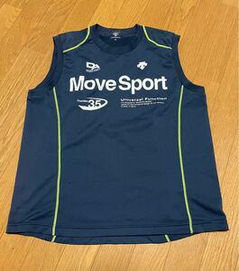 デサント ノースリーブシャツ Lサイズ USED DESCENTE MoveSport タンクトップ