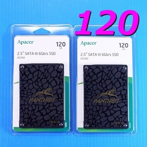 【SSD 120GB 2枚セット】Apacer AS340 PANTHER