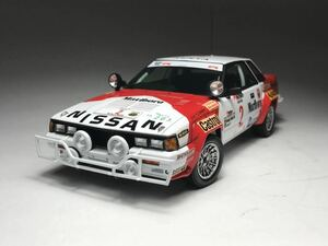 プラモデル完成品 1/24 アオシマbeemax BS11 日産240RS グループB WRCサファリーラリーマルボロデカール タミヤ フジミ ハセガワ
