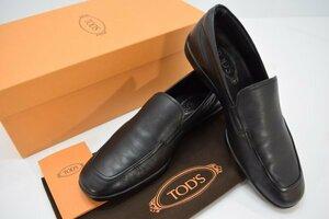 美品 正規品 TOD'S トッズ レザー ローファー ブラック サイズ 5 (24.0cm) 靴 ドライビング シューズ 黒色 メンズ 箱 保存袋付 H-143T
