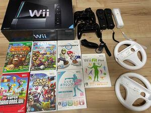Wii本体とリモコン、カセットのセット