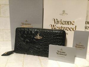 新品 ヴィヴィアン Vivienne Westwood クロコ調 ブラック 財布 メンズ レディース