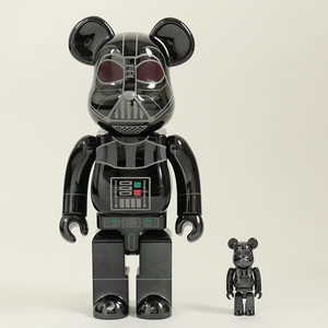 MEDICOM TOY BE@RBRICK DARTH VADER(Rogue One Ver.) Chrome Ver. 100% & 400% ベアブリック 黒 Size【フリー】 【新品未使用品】