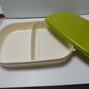 タッパーウェア ランチボックス 1L 可動仕切り付き お弁当箱 本体電子レンジ可能 温め直し