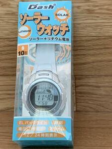 ソーラー ウォッチ 時計 アラーム 時刻表示 バックライト EL 曜日 日付表示 腕時計 デジタル 子供 ①