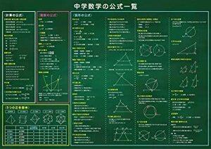 新品お風呂学習ポスターシリーズ (数学公式一覧表(13~99歳))7J40
