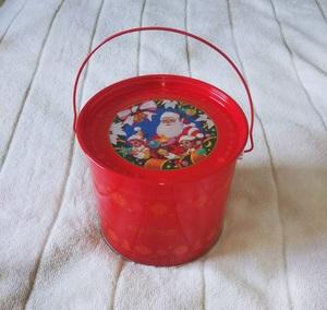 クリスマス バケツ お菓子缶 伊勢丹 ロイスダール RUYSDAEL