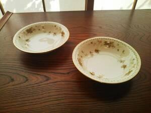 ノリタケ コンテンポラリー レトロ フルーツ皿 アイスクリーム皿 小皿 2枚