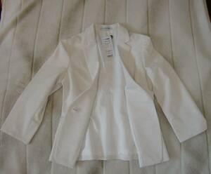 ナラ カミーチェ NARA CAMICIE 白 ジャケット ウォッシャブル 未使用 タグ付き size 2