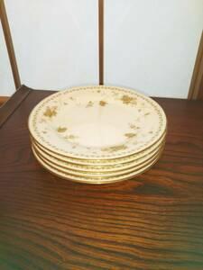 ノリタケ コンテンポラリー レトロ 小皿 ケーキ皿 花柄 5枚