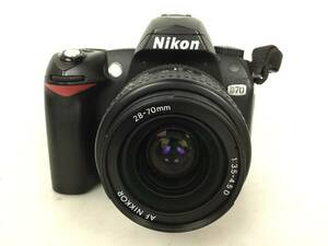 Nikon D70 ニコン デジタル一眼レフカメラ レンズ AF NIKKOR/1:3.5-4.5 /28-70 mm●現状品