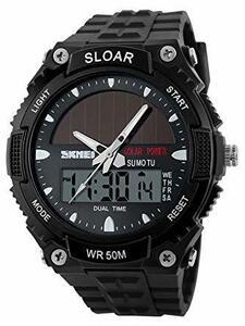 49black ソーラー腕時計 メンズ デジアナウォッチ スポーツ 人気ブランド おしゃれ ファション クロノグラフ アラーム時