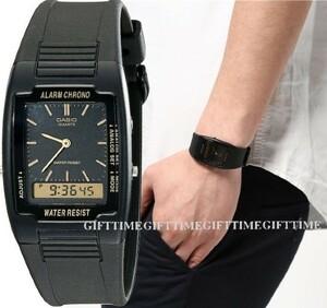 ☆CASIO AQ47-1E BLACK Classic Ana-Digi Watch アナデジ(AQ-47-1E)ブラック チプカシ カシオ casio 腕時計 チープカシオ
