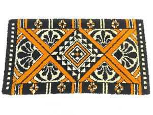 60's~70's/USヴィンテージラグマット/絨毯/カーペット/タイガーパターン/虎柄