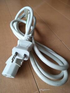 電源ケーブル 3ピン →2ピン 白色