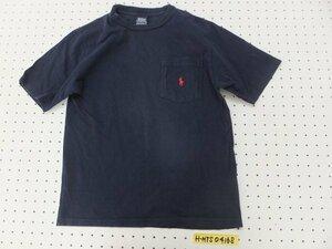 〈送料280円〉Polo by Ralph Lauren ラルフローレン メンズ 胸ポケット ワンポイント刺繍 半袖Tシャツ S 紺