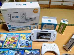 【最終値下げ】中古 ★Nintendo Wii U 本体 32GB マリオカート ゼルダ ポケモン★ 4人で遊べるセットです! 【送料無料】