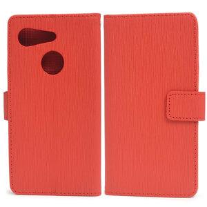 赤 ストレートレザー■Android One S6/GRATINA (KYV48) 手帳型ケース■ストラップ スマホ 保護カバー スタンド Ymobile アンドロイドワンS6