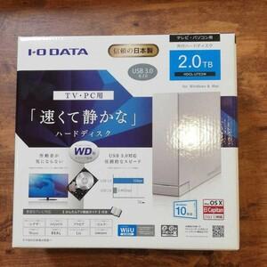 I・O DATA HDCL-UTE2W ハードディスク2.0TB 日本製
